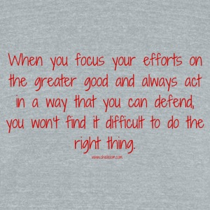 focus on the greater good - Unisex Tri-Blend T-Shirt by American Apparel
