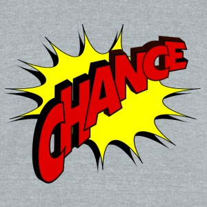 chance - comic style - Unisex Tri-Blend T-Shirt by American Apparel