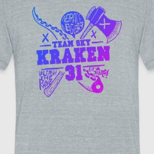 team sky Kraken - Unisex Tri-Blend T-Shirt by American Apparel