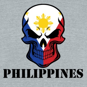 Filipino Flag Skull Philippines - Unisex Tri-Blend T-Shirt by American Apparel