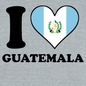 I Love Guatemala Guatemalan Flag Heart - Unisex Tri-Blend T-Shirt by American Apparel