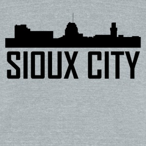 Sioux City Iowa City Skyline - Unisex Tri-Blend T-Shirt by American Apparel