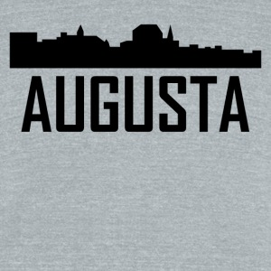 Augusta Maine City Skyline - Unisex Tri-Blend T-Shirt by American Apparel