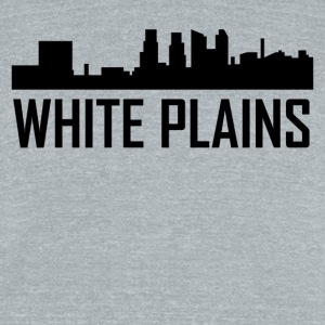 White Plains New York City Skyline - Unisex Tri-Blend T-Shirt by American Apparel