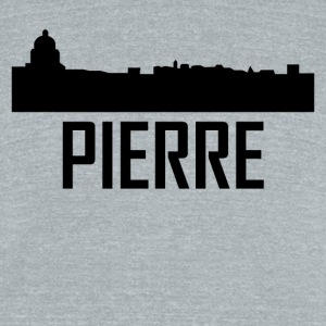 Pierre South Dakota City Skyline - Unisex Tri-Blend T-Shirt by American Apparel