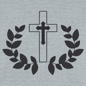 Take Up Your Cross - Unisex Tri-Blend T-Shirt by American Apparel