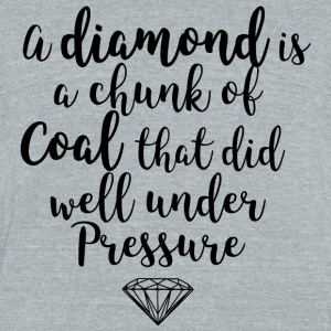 Diamonds are Coal - Unisex Tri-Blend T-Shirt by American Apparel