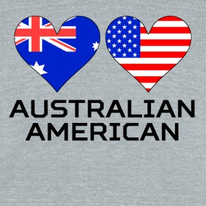Australian American Hearts - Unisex Tri-Blend T-Shirt by American Apparel