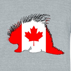 Canada Flag - Porcupine - Unisex Tri-Blend T-Shirt by American Apparel