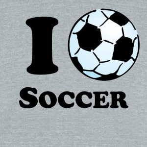 I Heart Soccer - Unisex Tri-Blend T-Shirt by American Apparel