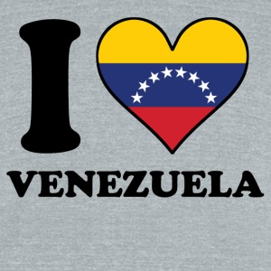 I Love Venezuela Venezuelan Flag Heart - Unisex Tri-Blend T-Shirt by American Apparel