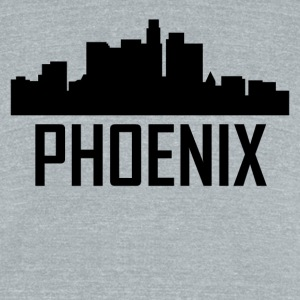 Phoenix Arizona City Skyline - Unisex Tri-Blend T-Shirt by American Apparel
