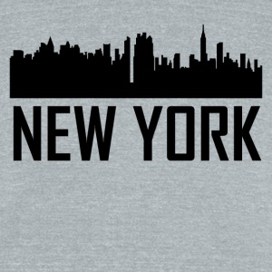 New York City Skyline - Unisex Tri-Blend T-Shirt by American Apparel