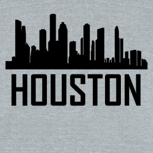 Houston Texas City Skyline - Unisex Tri-Blend T-Shirt by American Apparel