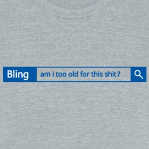 Different search engine - Bling - Unisex Tri-Blend T-Shirt by American Apparel