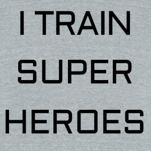 I TRAIN SUPER HEROES - Unisex Tri-Blend T-Shirt by American Apparel