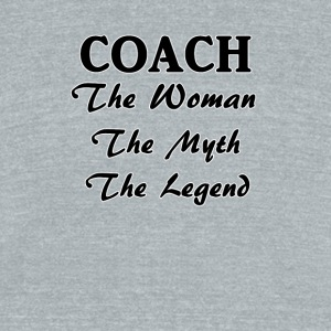 Coach The Woman The Myth The Legend - Unisex Tri-Blend T-Shirt by American Apparel