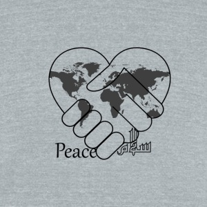 Peace - سلام - Unisex Tri-Blend T-Shirt by American Apparel