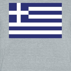 Flag of Greece Cool Greek Flag - Unisex Tri-Blend T-Shirt by American Apparel