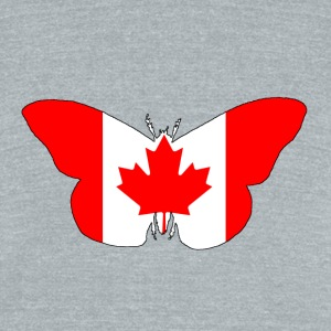 CanadaFlag - Butterfly - Unisex Tri-Blend T-Shirt by American Apparel
