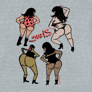 Gurls by Cheslo - Unisex Tri-Blend T-Shirt by American Apparel
