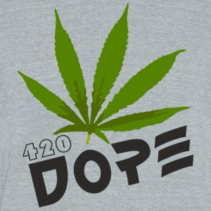 Dope 420 - Unisex Tri-Blend T-Shirt by American Apparel