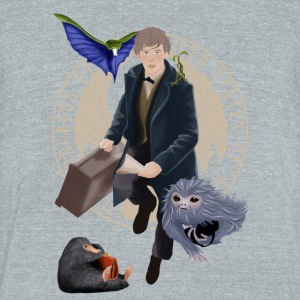 Newt and the gang T-Shirt - Unisex Tri-Blend T-Shirt by American Apparel