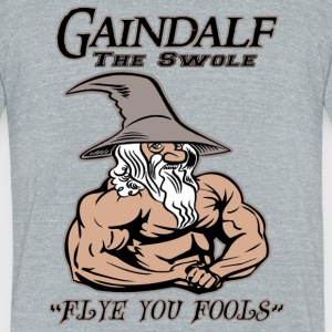Gaindalf the Swole - Unisex Tri-Blend T-Shirt by American Apparel