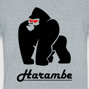harambe_gorilla_black - Unisex Tri-Blend T-Shirt by American Apparel