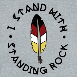 Standing Rock - Unisex Tri-Blend T-Shirt by American Apparel