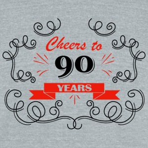 Cheers to 90 years - Unisex Tri-Blend T-Shirt by American Apparel
