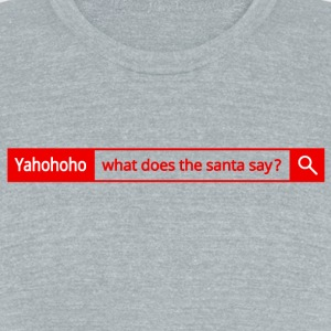Different search engine - Yahohoho - Unisex Tri-Blend T-Shirt by American Apparel