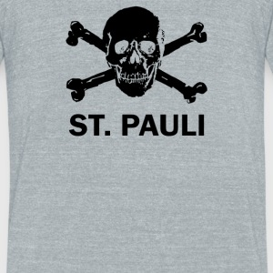 ST Pauli Skull - Unisex Tri-Blend T-Shirt by American Apparel