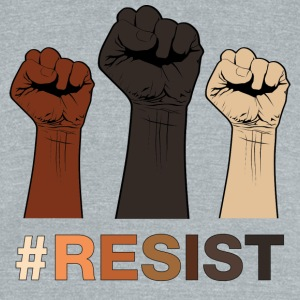 Resist / Racial Justice - Unisex Tri-Blend T-Shirt by American Apparel