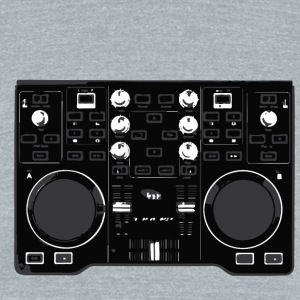 DJ TURNTABLE - Unisex Tri-Blend T-Shirt by American Apparel