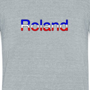 Roland Tricolor - Unisex Tri-Blend T-Shirt by American Apparel