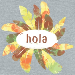 hola1 - Unisex Tri-Blend T-Shirt by American Apparel