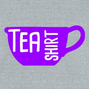 Tea Shirt Purple Power of Tea - Unisex Tri-Blend T-Shirt by American Apparel