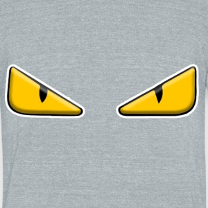 Zaheire x Fendi Monster Eye Design - Unisex Tri-Blend T-Shirt by American Apparel