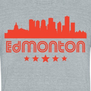 Retro Edmonton Skyline - Unisex Tri-Blend T-Shirt by American Apparel