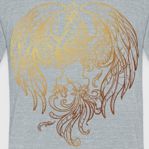 golden-rooster-sketch-2017-new-year - Unisex Tri-Blend T-Shirt by American Apparel