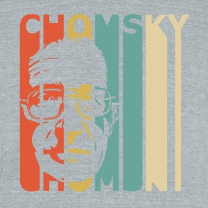 Retro Chomsky - Unisex Tri-Blend T-Shirt by American Apparel