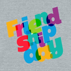colorful-friendship-day - Unisex Tri-Blend T-Shirt by American Apparel