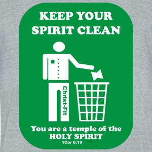 keep your spirit clean solid green - Unisex Tri-Blend T-Shirt by American Apparel