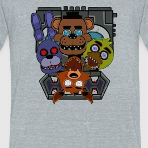 Five Nights at Freddy s - Unisex Tri-Blend T-Shirt by American Apparel