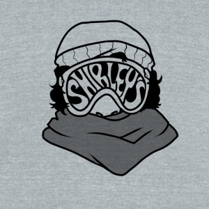 Shirleys Ski Goggles - Unisex Tri-Blend T-Shirt by American Apparel