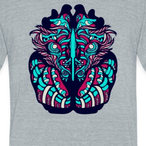 Victorian Lion - Unisex Tri-Blend T-Shirt by American Apparel