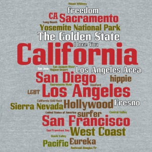 California (CA, The Golden State) Shirt - Unisex Tri-Blend T-Shirt by American Apparel