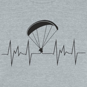heartbeat paragliding - Unisex Tri-Blend T-Shirt by American Apparel