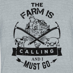 the farm calling - Unisex Tri-Blend T-Shirt by American Apparel
